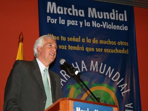Samuel Moreno, alcalde de Bogotá